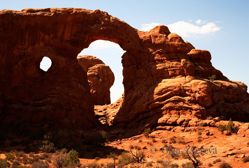 <p>Turret arch, Arches National Park, Utah, USA</p>