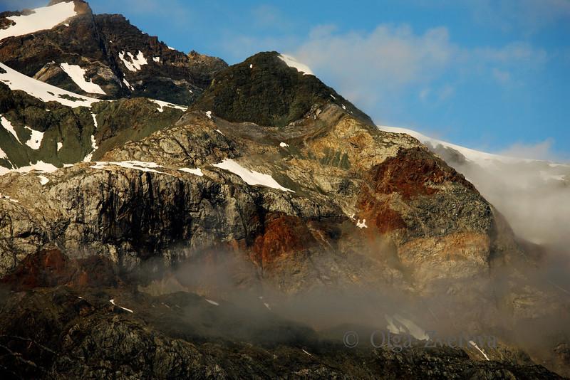 <p>Mountain colour. Glacier Bay National Park, Alaska, USA</p>