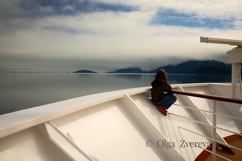 <p>Enjoying the view, Glacier Bay National Park, Alaska, USA</p>