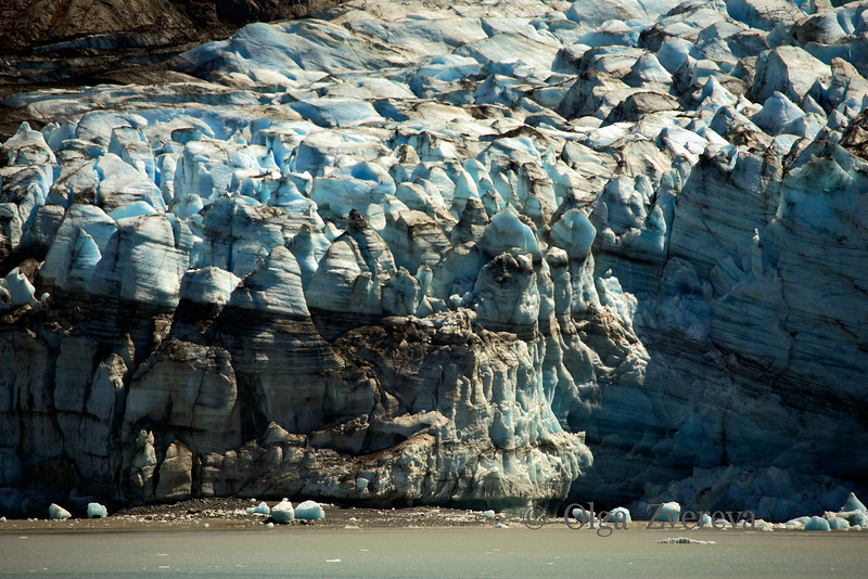 <p>Glacier edge. Lamplugh Glacier, Glacier Bay National Park, Alaska, USA</p>