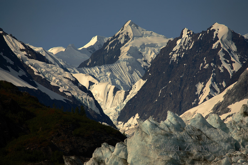<p>Fairweather Mountains and Margerie Glacier, Glacier Bay National Park, Alaska, USA</p>