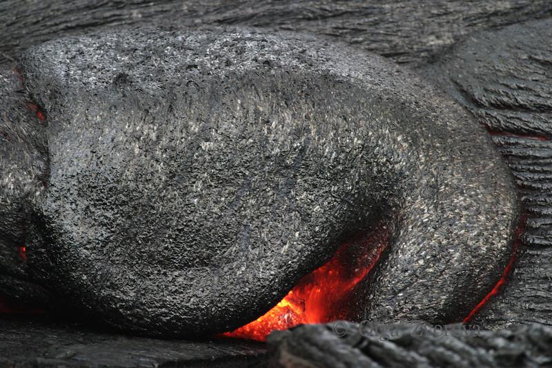 <p>Volcano eye. Lava flow at Kilauea volcano, Hawaii Volcanoes National Park, Big Island, Hawaii, USA</p>