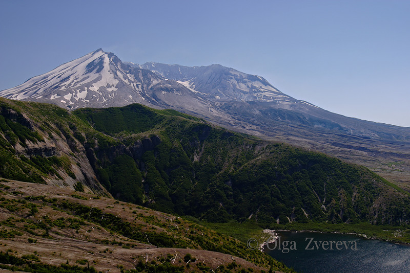 <p>Mount St. Helens transformed. Windy Ridge Visitor Center</p> <p>Mount St Helens National Volcanic Monument, Washington, USA</p>