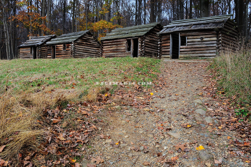 Revolutionary War Soldier's Huts - Morristown National Park.