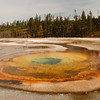 <p>Chromatic Pool, Upper Geyser Basin, Yellowstone National Park, USA</p>