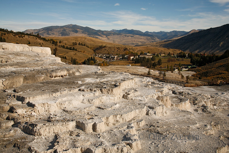 <p>Lower Terraces, Mammoth Hot Spring area, Yellowstone National Park, USA</p>