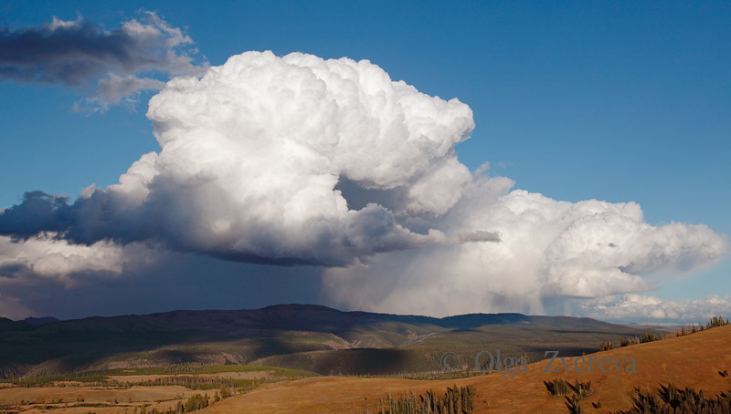 <p>Clouds over Yellowstone National Park, USA</p>