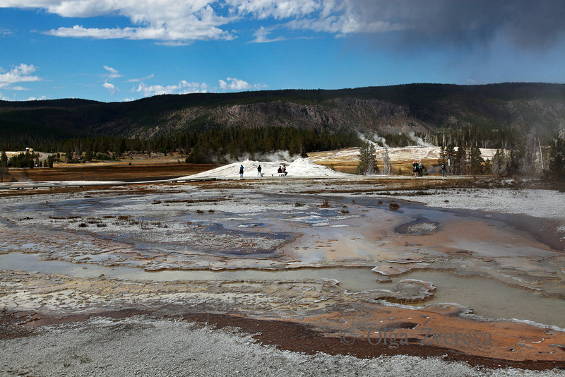 <p>Upper Geyser Basin, Yellowstone National Park, USA</p>
