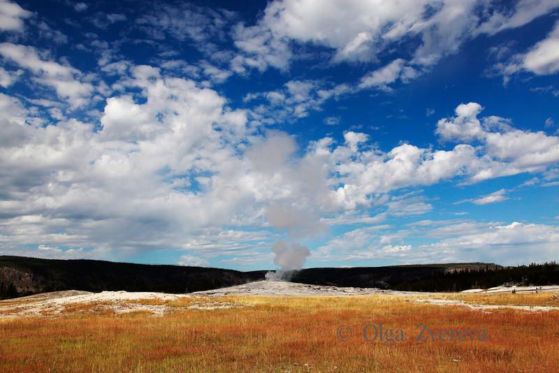 <p>Old Faithful Geyser. Upper Geyser Basin, Yellowstone National Park, USA</p>