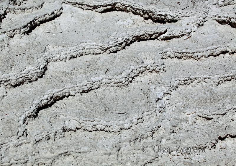 <p>Main Terrace Texture. Mammoth Hot Spring area, Yellowstone National Park, USA</p>