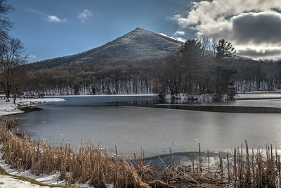 Blue Ridge Parkway Peaks of Otter in the 2019 Snow and Ice