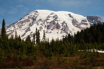 View of Mt. Rainier from Paradise in early summer.