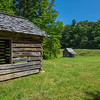 Jesse Brown's Cabin from Cool Spring Baptist Church - Jeffress Park