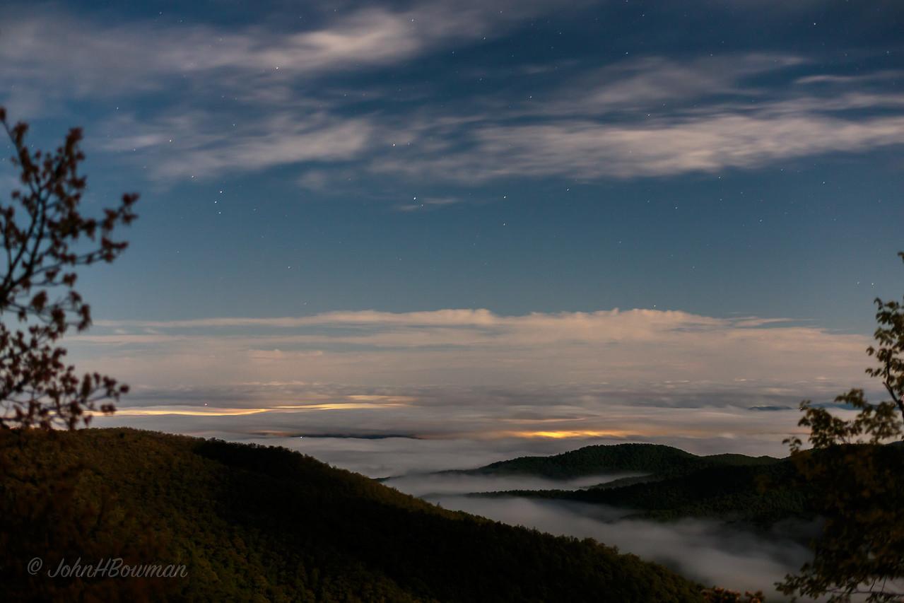 Pisgah Inn - Cloud Inversion, about 3:30 a.m.