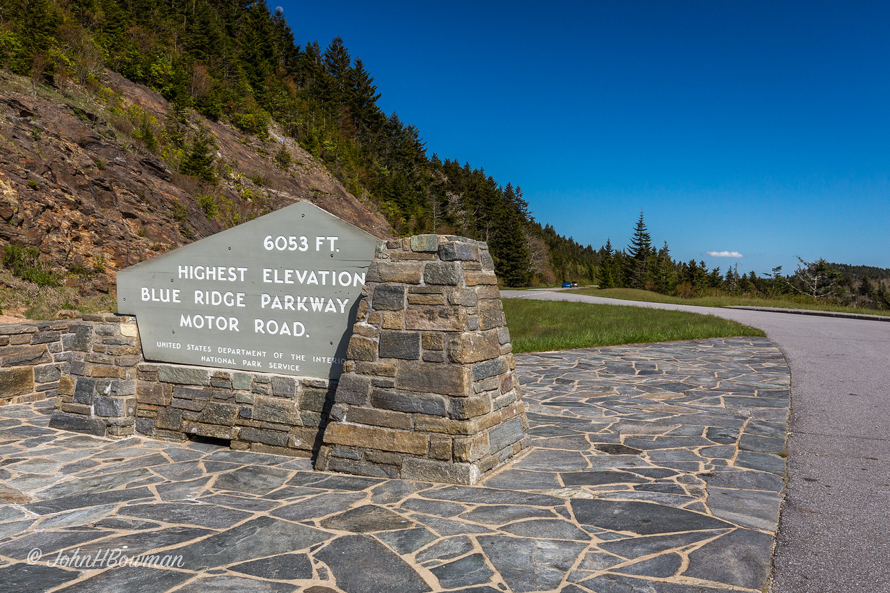 Richland Balsam Overlook -  Parkway's Highest: 6,053 feet