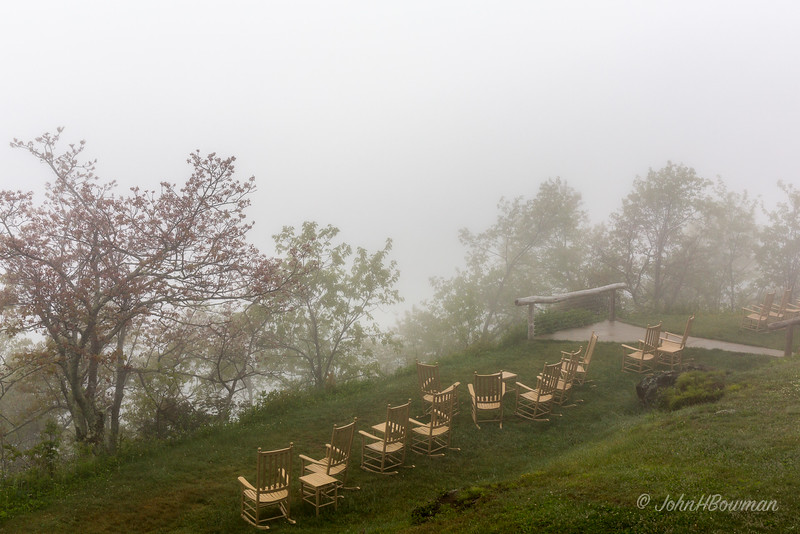 Pisgah Inn - Our Fogged-in View for Two Days
