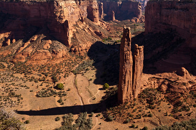 Spider Rock Overlook Canyon de Chelly National Monument AZ_2055