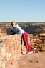 Cindy on the Edge of one of the many overlooks - Canyon de Chelly Arizona