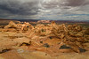 Aerial View of the Coyote Buttes Landscape - Southern Utah/Northern Arizona