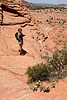Cindy Hiking Through Coyote Buttes in Southern Utah