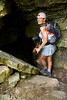 Cindy getting ready to climb down into the Devils Den Cave System - Devils Den State Park, Arkansas