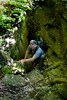 Climbing up and out of one of the Slot Canyons on the Devils Den Trail - Photo by Cindy Bonish