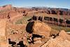 Balancing Rock hovering over the Goosenecks of the Colorado River - White Rim Trail, Utah - Photo by Cindy Bonish