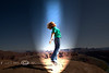 Cindy getting Abducted by Aliens in the Utah Desert - Photo by Pat Bonish
