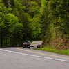 20th anniversary trip to Smokies & Pisgah Inn, May 14-22; Newfound Gap Rd/US 441 from Cherokee to Gatlinburg via 5046-ft Newfound Gap, has several overlooks in its 33 (or 31) miless, many with no apparent name; in TN, not far W of Newfound Gap & Morton overlook on curve near top of grade when going toward Newfound Gap; cloudy evening sky & early stage of spring made for some pretty scenes