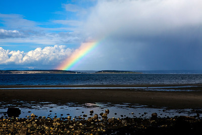 Rainbow Over Whidbey Island From Port Townsend WA_8555