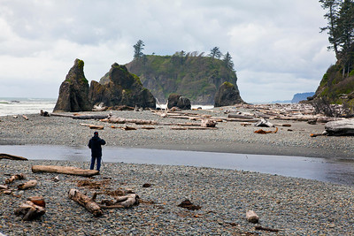 Jerry at Ruby Beach Olympic NP WA_8784