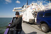 Enjoying the Sunshine while taking the Ferry from Ocracoke Island to Cedar Island, Outer Banks, North Carolina