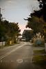 Deserted Streets on Ocracoke Island, Outer Banks North Carolina
