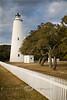 White Picket Fences leading up to the Ocracoke Lighthouse, Outer Banks North Carolina