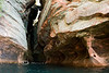 Floating into some Narrow Caves - Apostle Islands Seashore