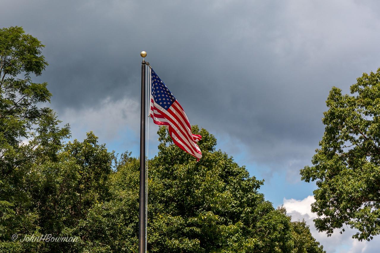 Flag at Byrd Visitor Center, Big Meadows