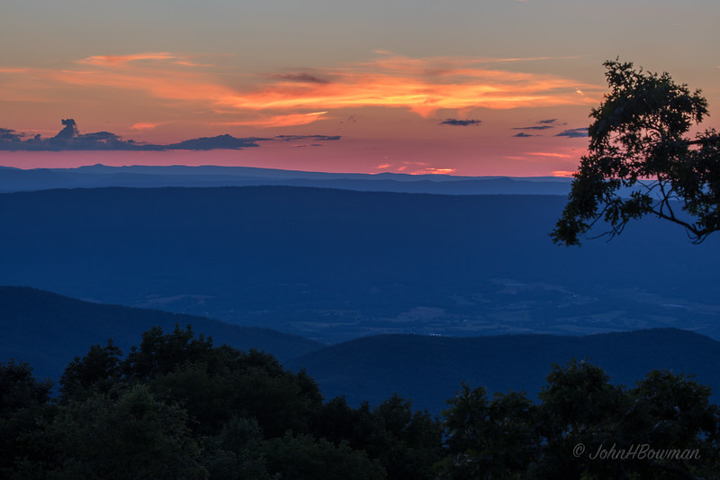 Afterglow - Tanners Ridge Overlook (13 minutes after sunset)