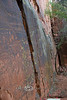 Looking down the Wall where all the Pictoglyphs are located - V Bar B Ranch Arizona - Photo by Cindy Bonish