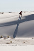 HIking on the White Sand Dunes in New Mexico