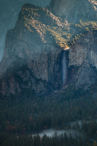 Bridalveil Falls and Fog