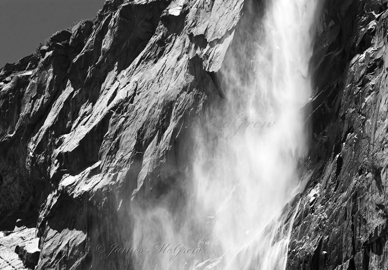 Tueeulala Fall, Hetch Hetchy Valley.  Copyright, © 2008 James McGrew.