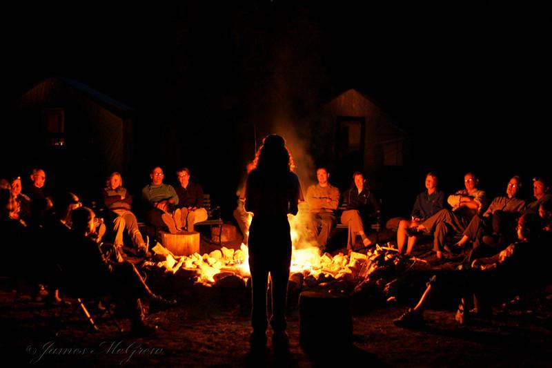 Nightly Evening Ranger Campfire Programs.  Copyright © 2008 James McGrew.