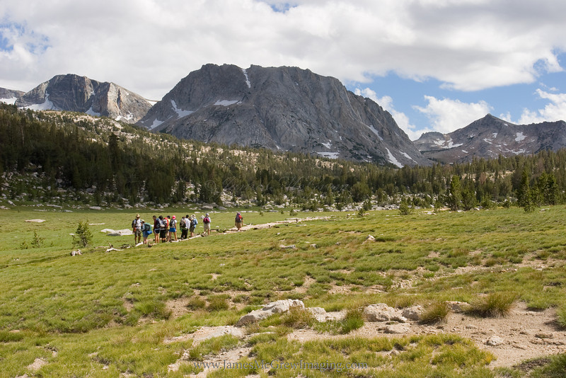 A group Approaching Tuolumne Pass and Vogelsang HSC