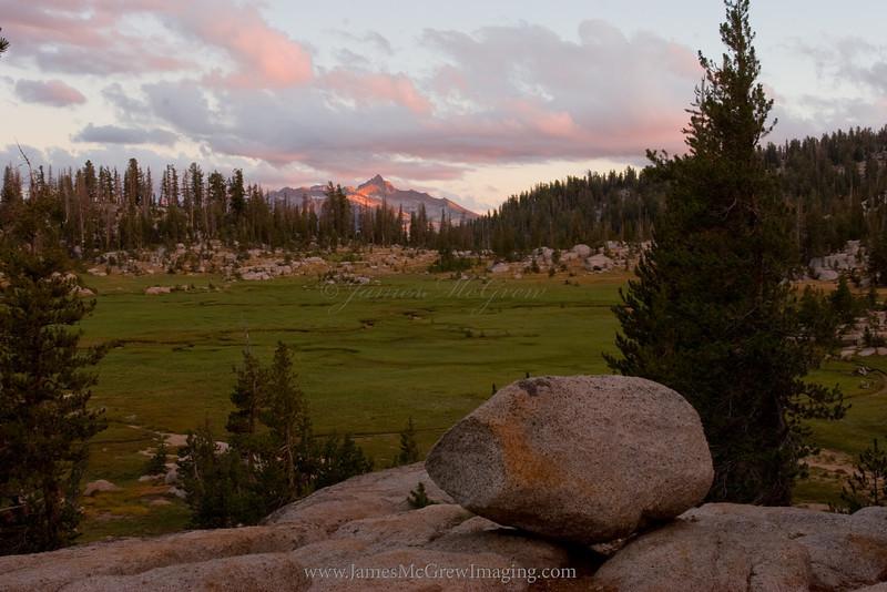 Sunset on Mt. Clark.  Copyright, ©2010 James McGrew