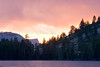Half Dome and Summer Thunderstorm Sunset, Merced Lake.  Copyright, ©2010 James McGrew