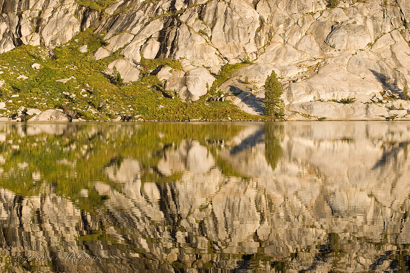 Morning Reflections, May Lake.  Copyright © 2008 James McGrew.