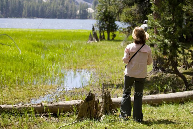 Peacefully gazing in awe at Merced Lake.