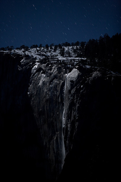 Horsetail Fall by Moonlight