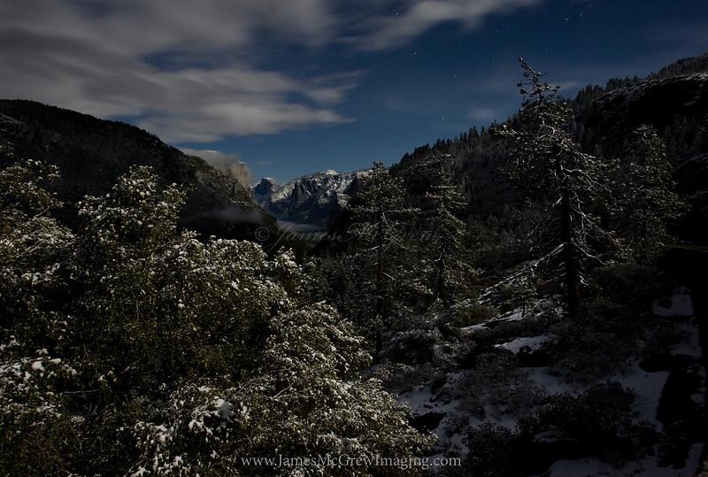 Snow Storm Midnight Passing