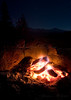 Campfire at Sunrise High Sierra Camp.  Copyright © 2008 James McGrew.